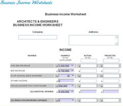 Printables Business Interruption Worksheet bisimplified business income worksheets